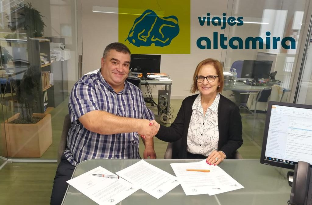Firmado el convenio con Viajes Altamira para el CESA BM 2020