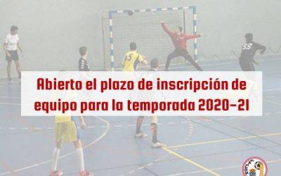 Abierto el plazo de inscripción de los equipos para la temporada 2020-21