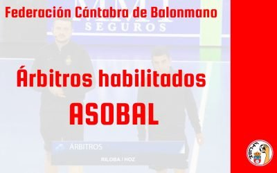 Alejandro Hoz y Axel Riloba, habilitados para arbitrar en ASOBAL