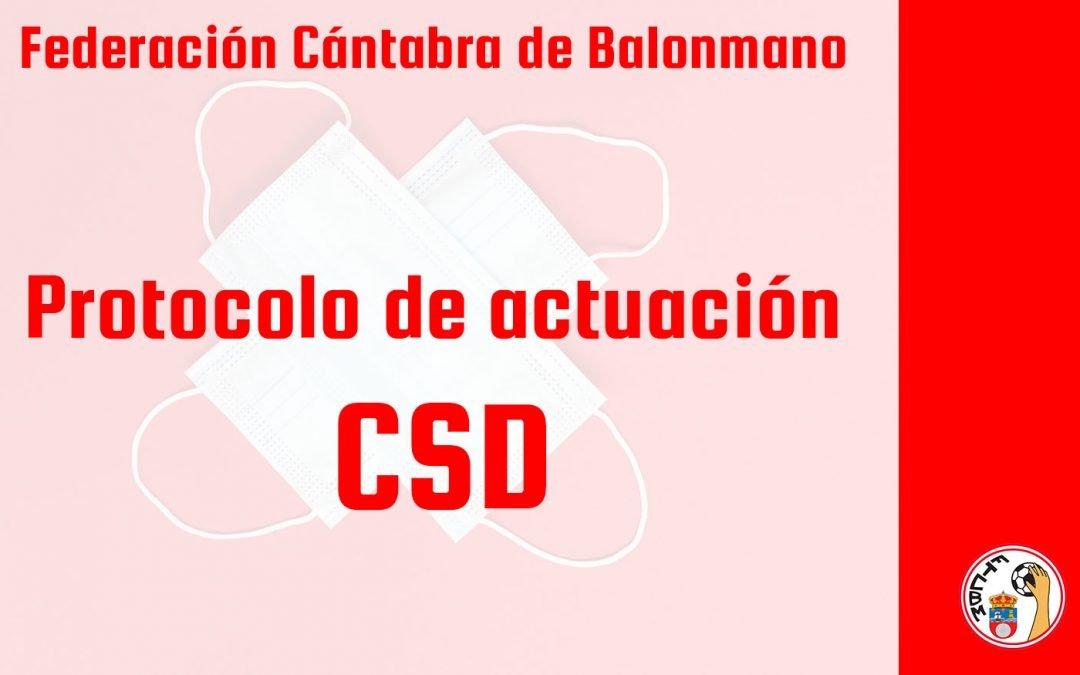 El CSD publica el protocolo de actuación para las competiciones oficiales no profesionales