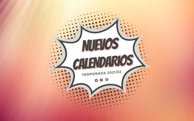 Calendarios de competición temporada 2021/22