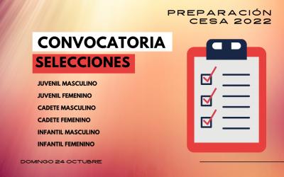 Convocatorias de selecciones cántabras para el 24 de octubre